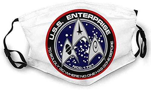 Star Trek Mundbandana für Staubschutz Anti Face Bandana Waschbares Ohrbügel Bandana 1 Stck