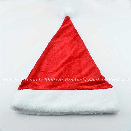 Gifts SHATCHI-866 Chapeau de Noël de luxe 4 All Occasions Rouge/blanc