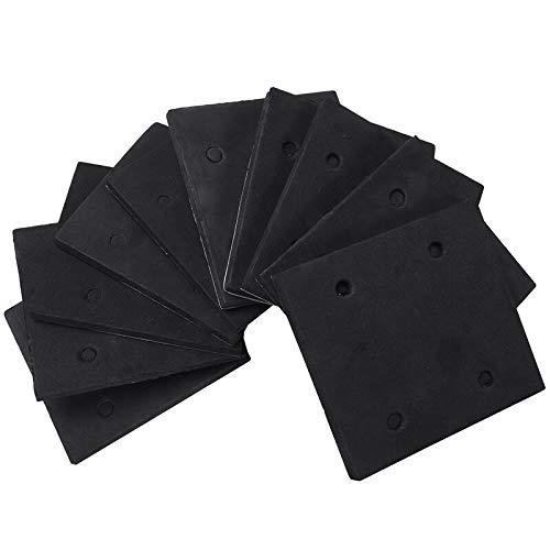 SHUGJAN 10 pièces en mousse auto-adhésif partie Sander Retour Pad Ponçage Mat for Makita 4510 Accessoires de bricolage outils de réparation de m