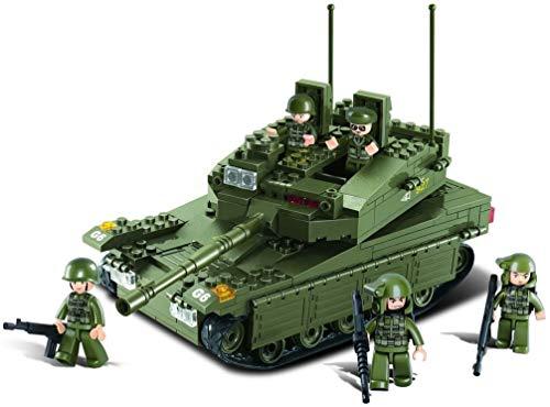 Sluban SL95130, Panzer III (355 Teile) [M38-B0305], Spielset , Klemmbausteine, Soldaten, mit Spielfigur, Army, bunt