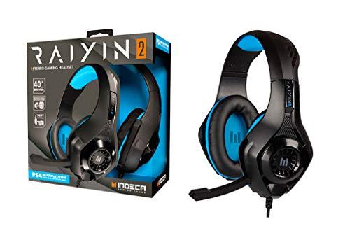 Cascos gamer compatibles con PS5, PS4, Xbox, Nintendo Switch, PC y Mac | Headset gaming: auriculares ergonómicos con sonido estéreo y micrófono | Cable de 1,5 m con entrada universal minijack de 3.5mm