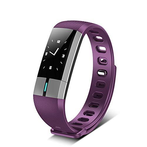 XuQinQin Pulsera Inteligente, multifunción, podómetro Deportivo, Control de Salud para Hombres y Mujeres - Cuatro Colores Opcionales Reloj tecnológico (Color : D)