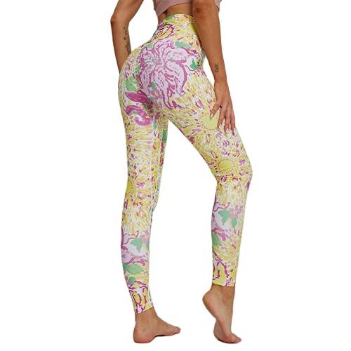 QTJY Pantalones de Yoga Transpirables y de Secado rápido Leggings elásticos de Cintura Alta Leggings Deportivos para Correr al Aire Libre O L