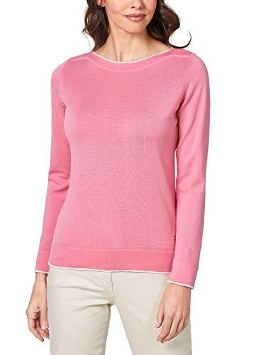 Walbusch Damen Merino Pullover Extrafine einfarbig Pink 48
