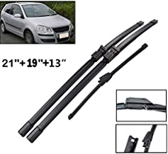 Xukey Front + Rear Windshield Wiper Blades Set Fit For VW polo MK4 9N3 9N 2006-2009 (Set of 3)