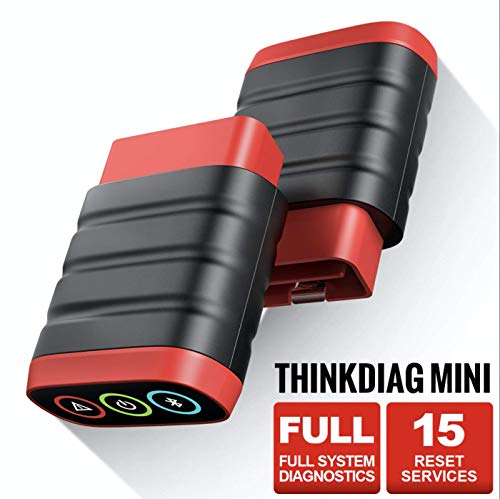 THINKCAR ThinkDiag Mini Bluetooth OBD2 Scanner, Full System Diagnostic Scanner, Car Diagnostic Scan Tool with 15 Reset Functions, Auto VIN, DTC Lookup, Check Engine Light Code Reader for iOS & Android