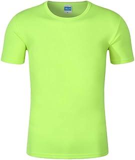 NOBRAND WickingT-Camisa Cuello Redondo Respirable De Los Hombres DeT-Camisa (2Pcs)SVerde Fluorescente
