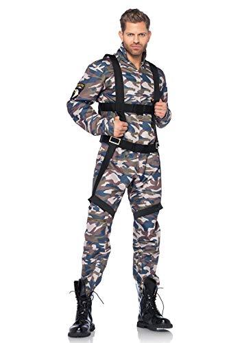 Leg Avenue- Paratrooper Hombre, Color Camuflaje, Large (LegAvenue 85279)