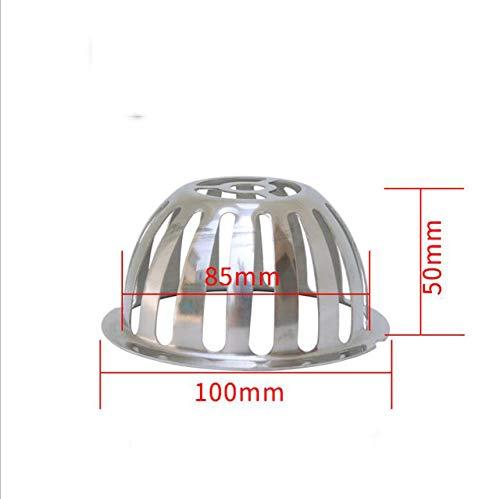 DAYUZH Anti-Verstopfungs-Dachbodenablauf aus rostfreiem Stahl, Rinnen-Abwasserrohr-Anti-Rattenfilter, Regensieb mit großer Verdrängung, 100 mm