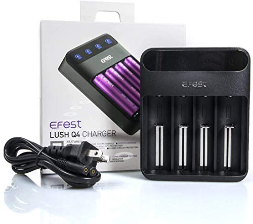 Efest LUSH Q4 Intelligent LED Battery Charger for 20700 / 18650 / 26650 / 26500 / 18500 / 18350 / 17340 / 16340 / 14500 / 10440