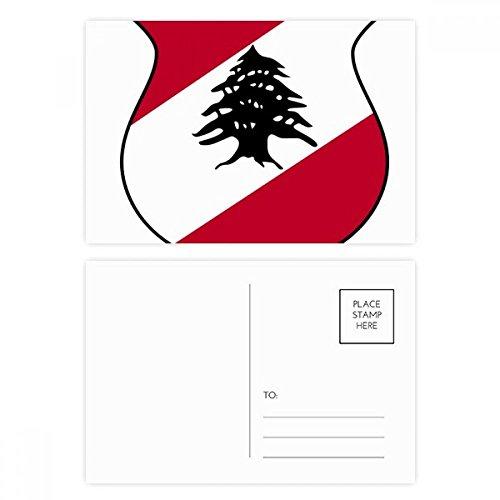 DIYthinker Libanon Asien National Emblem Postkartenset Geburtstag dankt Karte Mailing Side 20pcs 5.7 Zoll x 3.8 Zoll Mehrfarbig