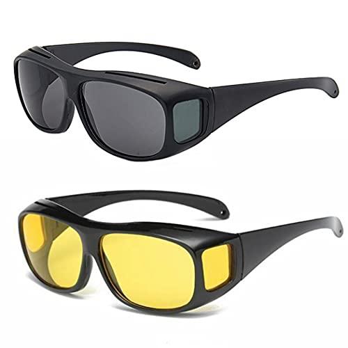 Gafas de Marco Portátil Protector 2 Pares Gafas de Sol Polarizadas Polarizadas