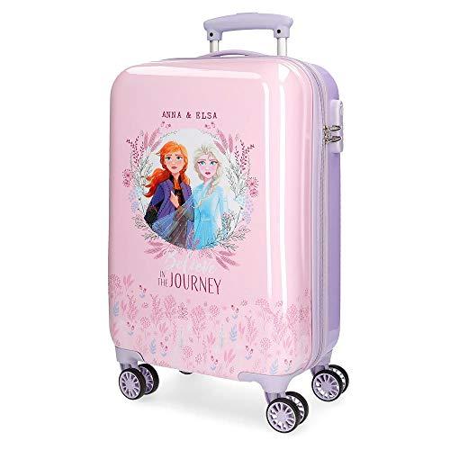 Disney Frozen 2 Maleta de Cabina Morado 37x55x20 cms Rígida ABS Cierre combinación 32L 2,5Kgs 4 Ruedas Dobles Equipaje de Mano