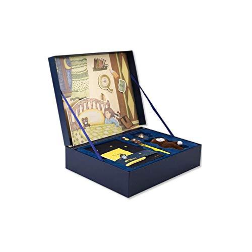 Xyhcs Librería de Lectura for libretas Papelería Conjunto de Caja de Regalo: diseño Lindo del Oso, Moda Linda, Simple y Exquisita, Caja, Color: Azul, tamaño: 32 * 26 * 7 cm