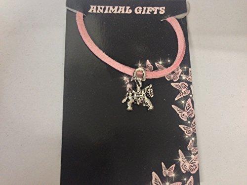 Collar de plata tibetana con colgante de caballo en un cordón rosa, hecho a mano de 41 cm y detalles muy finos ajustables vienen con embalaje de venta CH70