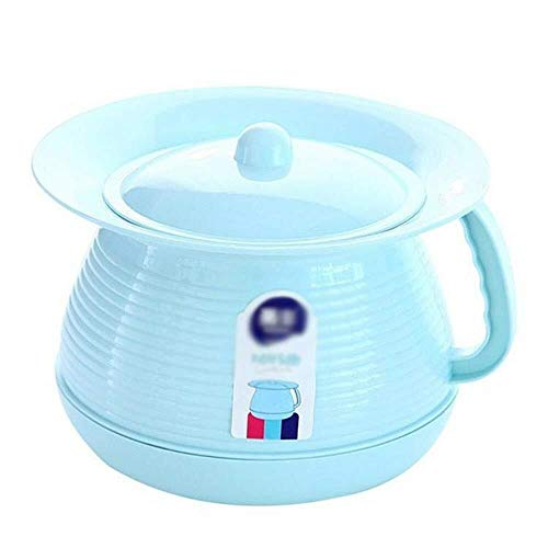 Mr.T Botella Urinario Urinario IR al baño Neutral, Universal de la Infancia, de plástico Urinal, Acolchado de Mano for IR al baño de la Tapa Urinario (Color : Blue)