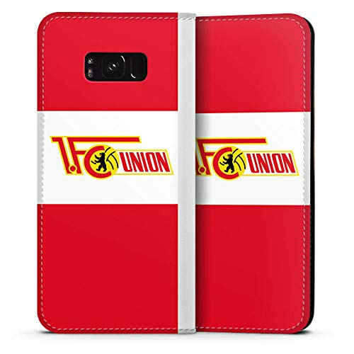 DeinDesign Leder Flip Case kompatibel mit Samsung Galaxy S8 Plus Duos Tasche Hülle FCU Offizielles Lizenzprodukt 1. FC Union Berlin