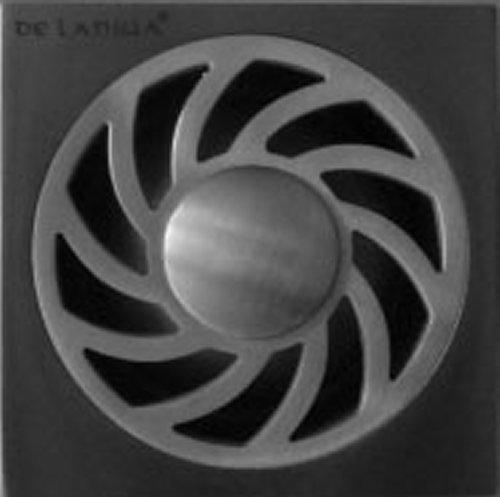 DeLanwa 606036.0 Massiv Edelstahl Bodenablauf Geruchsverschluß Rost 100x100mm Waschmaschine Spülmaschine