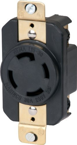 Marinco 3015R 30 Amp, 250 Volt, 3 Phase, Receptacle Locking