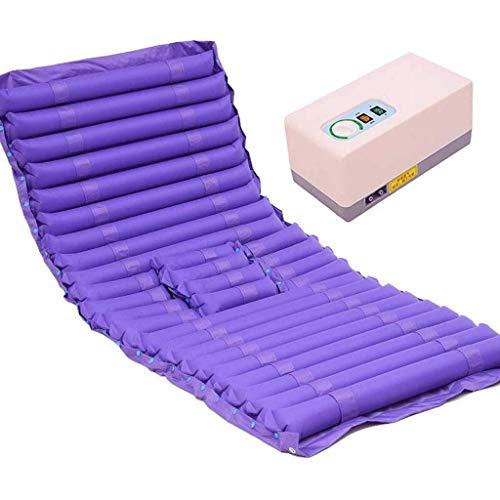 Möbeldekoration Expansionskontroll-Matratzenauflage mit Pumpe Anti-Dekubitus-Luftmatratze Air Topper-Pad zur Vorbeugung von Bettgeschwüren Bettlägerige Behandlung - aufblasbar Enthält ein elektrisc