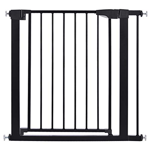 Baby Gate 81-88 cm Safety Gates, Auto Close Metal Gate, Practical Stair Gate for Baby, Easy Open Safety Barrier Door Metal Frame Pet Dog Gate for Toddlers Kids Pets