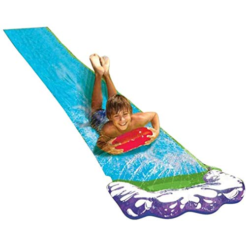 MRSDBTL 16ft Backyard Water Slides for Kids, Extra-Thick Water Slide Sliding Lane, Garden Slip Slide with Sprinkler for Kids Children Backyard Pool Games Outdoor Summer Water Toys