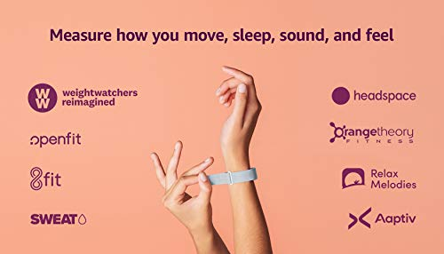 Amazon Halo Band – Measure how you move, sleep, and sound – Designed with privacy in mind - Winter + Silver - Small