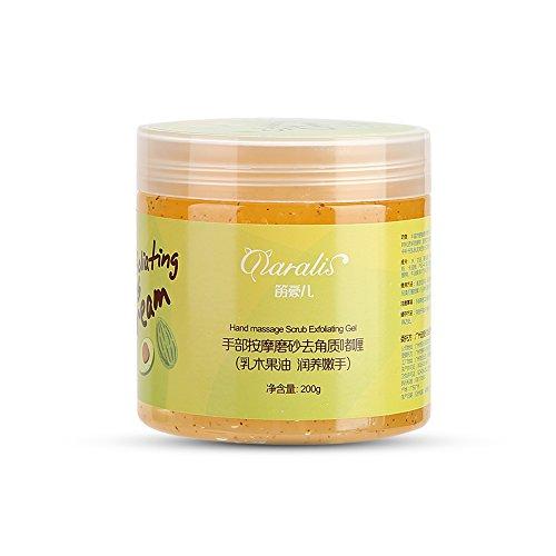 Exfoliant pour le massage des mains, crème pour les mains exfoliante pour la peau morte utilisée pour hydrater les mains et blanchir la beauté Nourrissante SPA