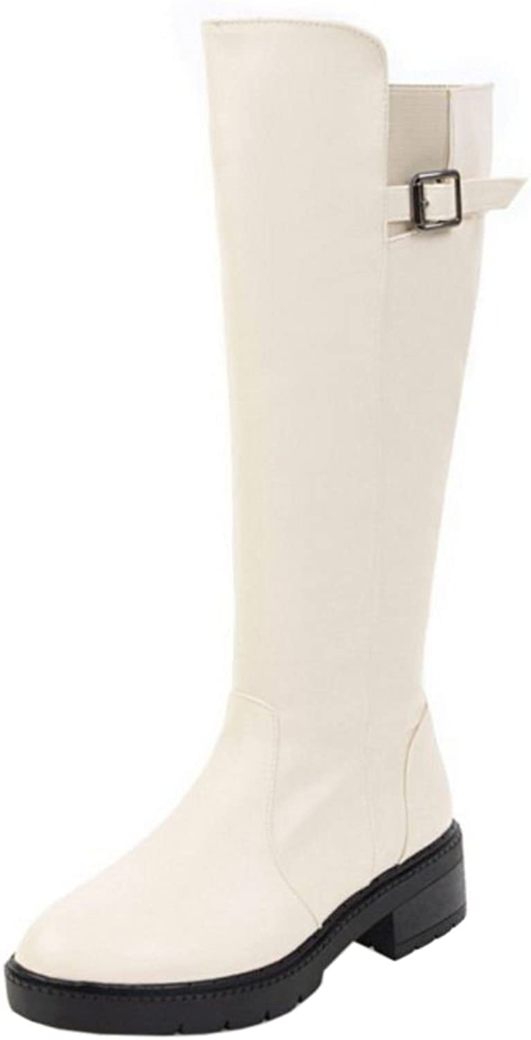 RizaBina Women Simple Boots Zipper