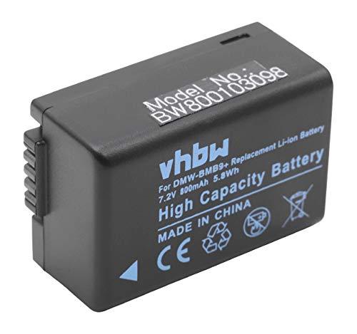 vhbw batería 800mAh para cámara Panasonic Lumix DC-FZ82 y Panasonic DMC-BMB9, DMW-BMB9E, Leica BP-DC9.