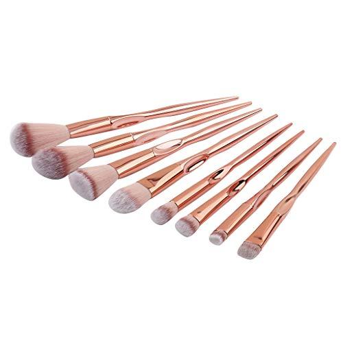 IYU_Dsgirh Pinceaux Maquillage, 8pcs fondation cosmétique sourcils fard à paupières pinceau maquillage pinceaux ensembles de outils (NOIR)