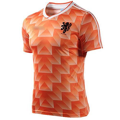 HQSG Fútbol Camiseta De 1988 Copa Mundial De Fútbol Jersey, Uniforme Retro Holanda Selección Nacional De Fútbol (S-XXXL) L