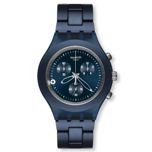 Swatch SVCN4004AG - Reloj analógico de caballero de cuarzo con correa de aluminio azul
