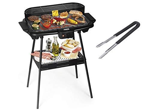 barbecue elettrico princess Princess Barbecue elettrico versatile con griglia scaldavivande & pinza – utilizzabile come griglia da tavolo e grill da tavolo – ideale per il campeggio