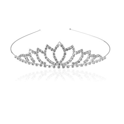Banda para la cabeza corona,Tiara Corona de Cristal,Tiara Corona Diadema Adornada con diamantes de imitación peine para corona nupcial Proms de boda desfiles Princesas Fiesta de cumpleaños