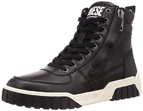 Diesel Le S-RUA Sneaker Mid para hombre, negro (Negro), 44 EU