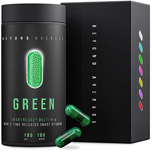 Beyond Average GREEN | Time-Released 24h* Multivitamin und Multimineral-Support Männer | 180...