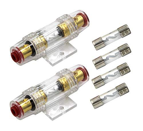 Carviya 4–8 AWG Inline wasserdichter Sicherungshalter mit zwei 60A AGU Typ-Sicherungen für Auto-Audio/Alarm/Verstärker/Kompressoren
