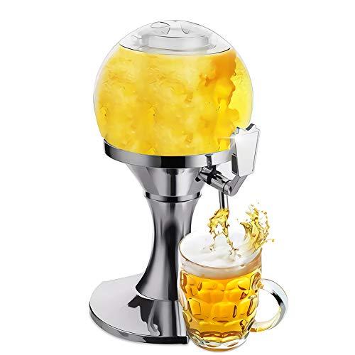Dispensador De Cerveza, Dispensador De Bebidas De 3,5 litros, Utilizado para Dispensadores De Cerveza para Fiestas, Máquinas De Cerveza, Vertidores De Líquidos Domésticos (16 Pulgadas),Blanco