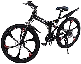 TOUNTLETS 26 Inch Adult Mountain Bikes, Unisex Folding Bike Non-Slip Bicycles - Fast-Speed Comfortable Outroad Racing Cycl...