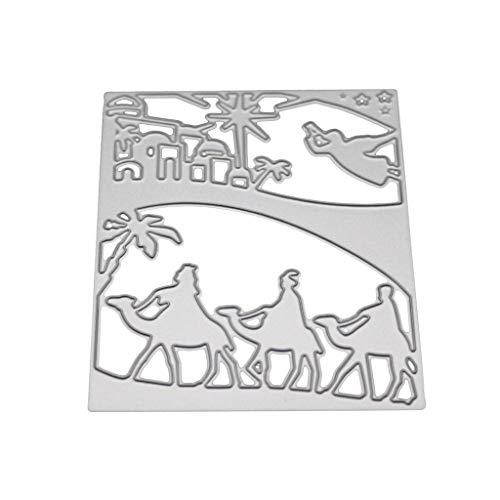 Hothap Wüste Kamel Metall Stanzformen Schablone Scrapbooking DIY Album Stempel Papierkarte