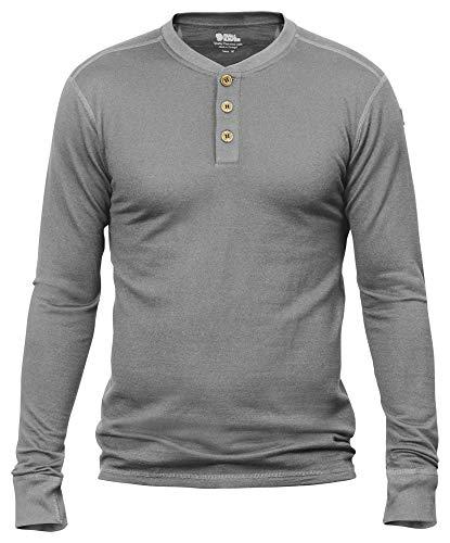 Fjällräven heren Lappland Merino Henley shirt met lange mouwen, grijs, XL