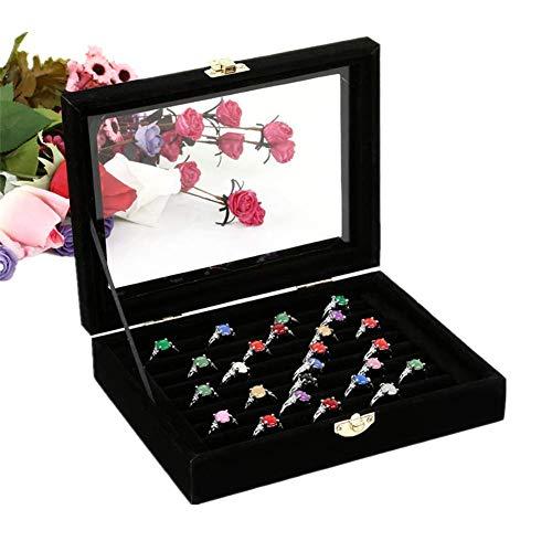 Almacenamiento de pendientes Organizador de joyas Cajas de almacenamiento bonitas Soporte para pendientes de perno Bandeja de joyas Caja de pendientes para anillo de almacenamiento Organizador de e