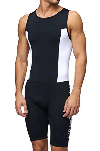 Sundried Herren gepolsterter Prämium Triathlon Tri Anzug Kompression Duathlon Laufen Schwimmen Fahrradfahren Skinsuit (X-Large)