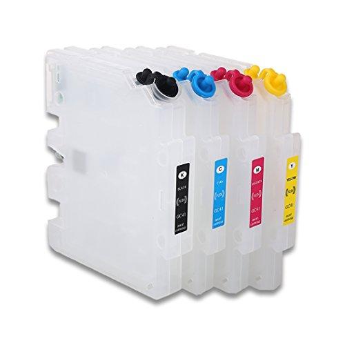 HEMEI leere nachfüllbare Tintenpatrone Ersatz für Ricoh GC41, arbeitet mit Ricoh SG2100N SG3100 SG3100SNW SG3110DNW SG3110DN SG3110SFNW SG7100DN SG3120 Drucker