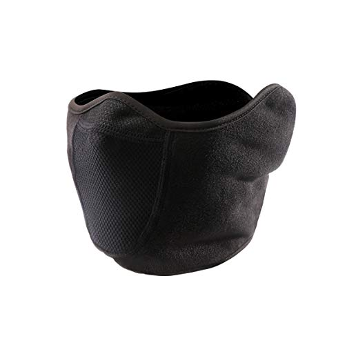 Unisex Balaclava Face Masks Windproof Built-in Breathable Full Ear Warmer Fleece Hood Black