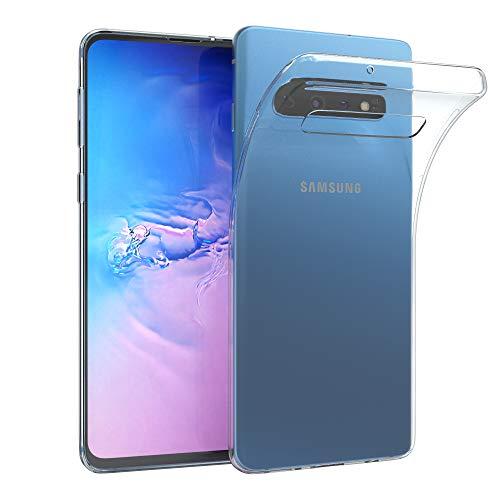 Preisvergleich Produktbild EAZY CASE Hülle kompatibel mit Samsung Galaxy S10 Schutzhülle Silikon,  Ultra dünn,  Slimcover,  Handyhülle,  Silikonhülle,  Backcover,  Durchsichtig,  Klar Transparent
