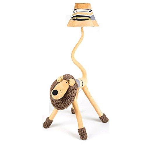 Good thing Lampadaire Lion de bande dessinée pour enfants Lovely Lampadaire Éclairage créatif de personnalité Lampadaire à deux étages Bureau Etude Salle de séjour Lampe de table verticale