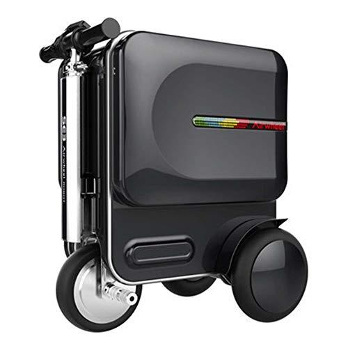 SPFCAR Equipaje de equitación Inteligente Maleta eléctrica de 20 Pulgadas con Sonido Que Puede sacudirse Puede Montar la Maleta