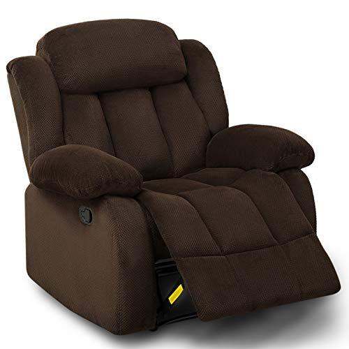 Z-COLOR Sillón reclinable de tela para sala de estar, sofá cama individual Asiento de cine en casa Moderno planeo Reclinable Sillón de salón adecuado para adultos y personas mayores altos Sala de esta